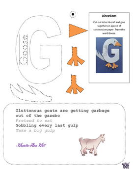 Letter G cutout craft