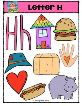 Letter H Alphabet Pictures {P4 Clips Trioriginals Digital