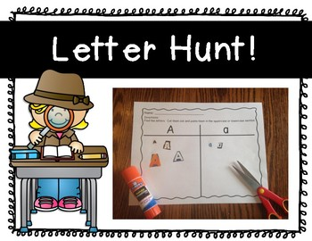 Letter Hunt  {We're Going on a Letter Hunt}