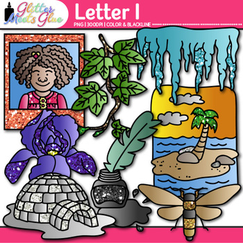 Letter I Alphabet Clip Art {Teach Phonics, Recognition, an