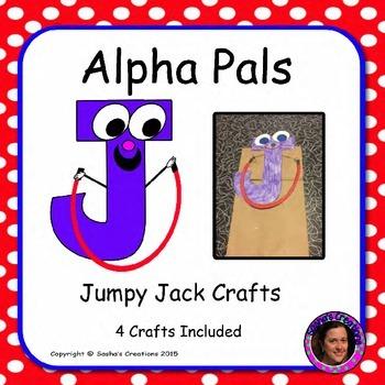 Letter J Craft: Jumpy Jack Alpha Pal