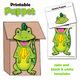 Letter I Craft - Paper Bag Puppet Iguana