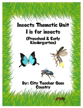 Letter I - Insects Thematic Unit for PreSchool & Early Kin