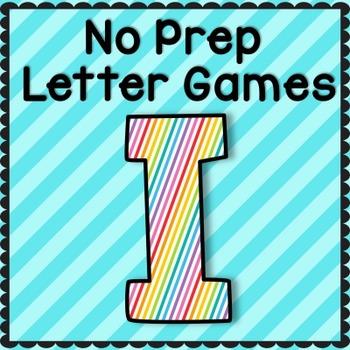 Letter I No Prep Letter Games: RTI, Intervention, Preschool, TK