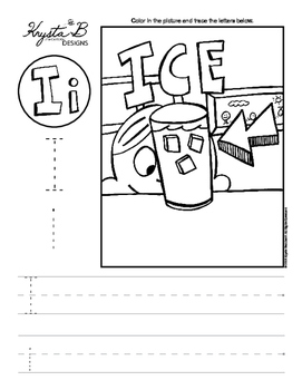 Letter I Trace and Write Worksheet Pack