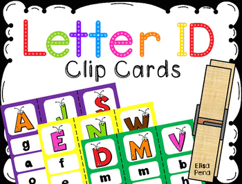 Letter ID Clip Cards