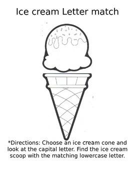 Letter Ice Cream Match