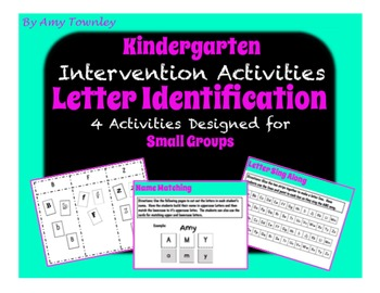 Letter Identification Activities