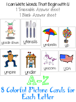Letter Identification & Beginning Sounds A-Z