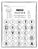 Letter Identification: Bingo Dauber Pages