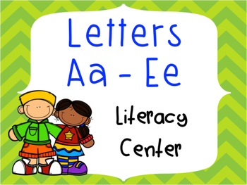 Letter Identification and Beginning Sound Center Aa to Ee