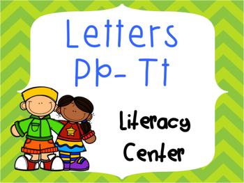 Letter Identification and Beginning Sound Center Pp to Tt