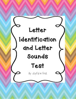 Letter Identification and Letter Sound Test