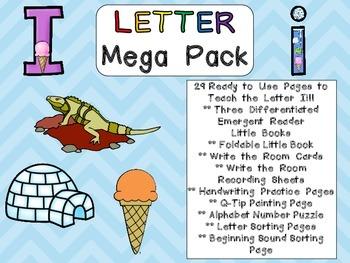 Letter Ii Mega Pack- Kindergarten Alphabet- Handwriting, L
