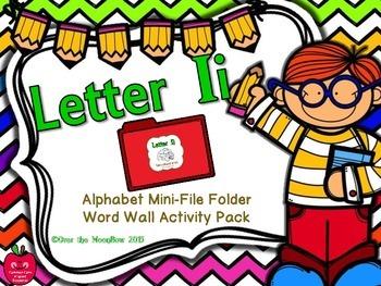 Letter Ii Mini-File Folder Word Wall Activity Pack