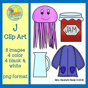 Letter J Beginning Sound Clip Art