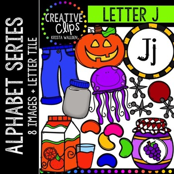 Letter J {Creative Clips Digital Clipart}