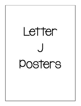 Letter J Posters