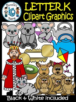 Letter K- Clipart Graphics- Commercial & Personal Use