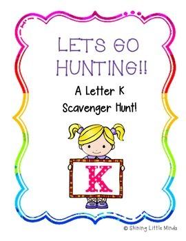 Letter K Scavenger Hunt