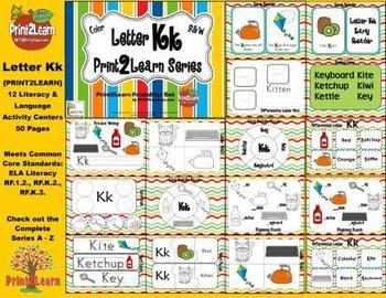 Letter Kk Language & Literacy Activity Center {COMMON CORE