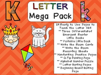 Letter Kk Mega Pack- Kindergarten Alphabet- Handwriting, L