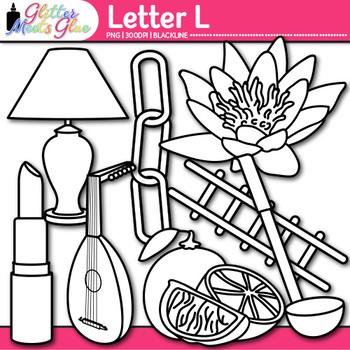 Letter L Alphabet Clip Art Line Art- Letter Recognition, I