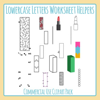 Letter L (Lowercase) Worksheet Helper Clip Art Set For Com