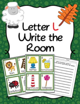 Letter L Words Write the Room Activity