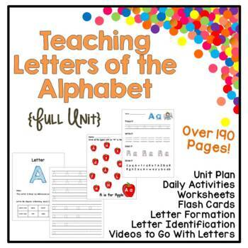Letter Learning Full Unit - Identification, Writing, Sound