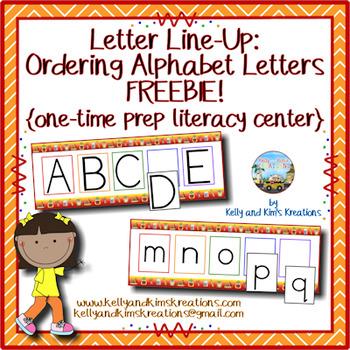 Letter Line-Up! {ordering alphabet letters}