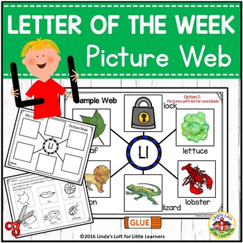 Letter Ll Beginning Sound Picture Web Activity