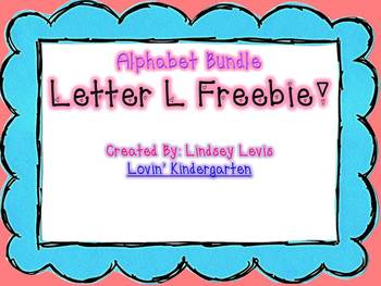Letter Ll Freebie from Alphabet Bundle