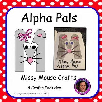 Letter M Alphabet Craft: Missy Mouse Alpha Pal