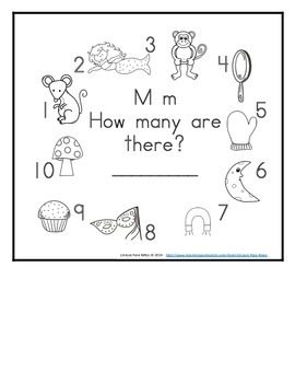 Letter M Counting Books