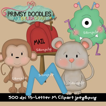 Letter M Early Learning Clipart