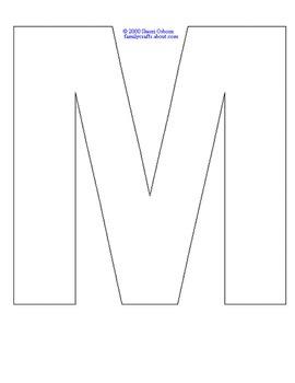 Letter M activties (FREEBIE)