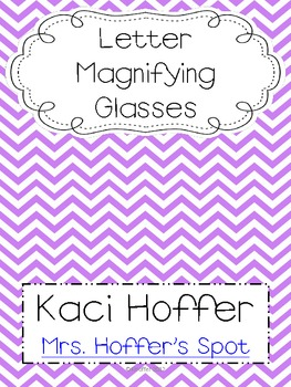 Letter Magnifying Glass {Read the Room}