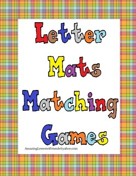 Letter Mat Matching Game