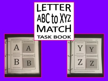 Letter Match Task Book