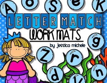 Letter Match Work Mats {Undersea Theme}