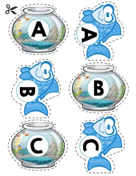 Letter Matching Fish & Fishbowl Game