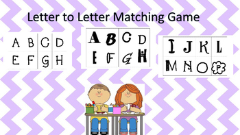 Letter Matching Memory Game
