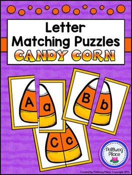 Letter Matching Puzzles - Candy Corn {Uppercase and Lowerc