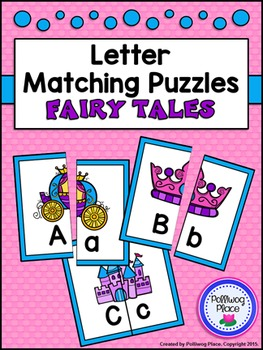 Letter Matching Puzzles - Fairy Tales {Uppercase and Lower