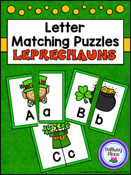 Letter Matching Puzzles - Leprechauns {Uppercase and Lower