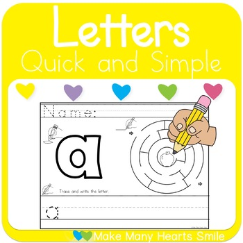 Letter Maze and Handwriting Worksheets 2