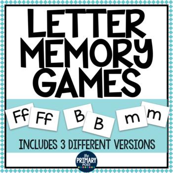 Letter Memory Games