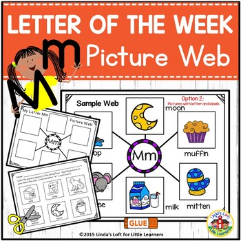 Letter Mm Beginning Sound Picture Web Activity