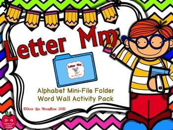 Letter Mm Mini-File Folder Word Wall Activity Pack